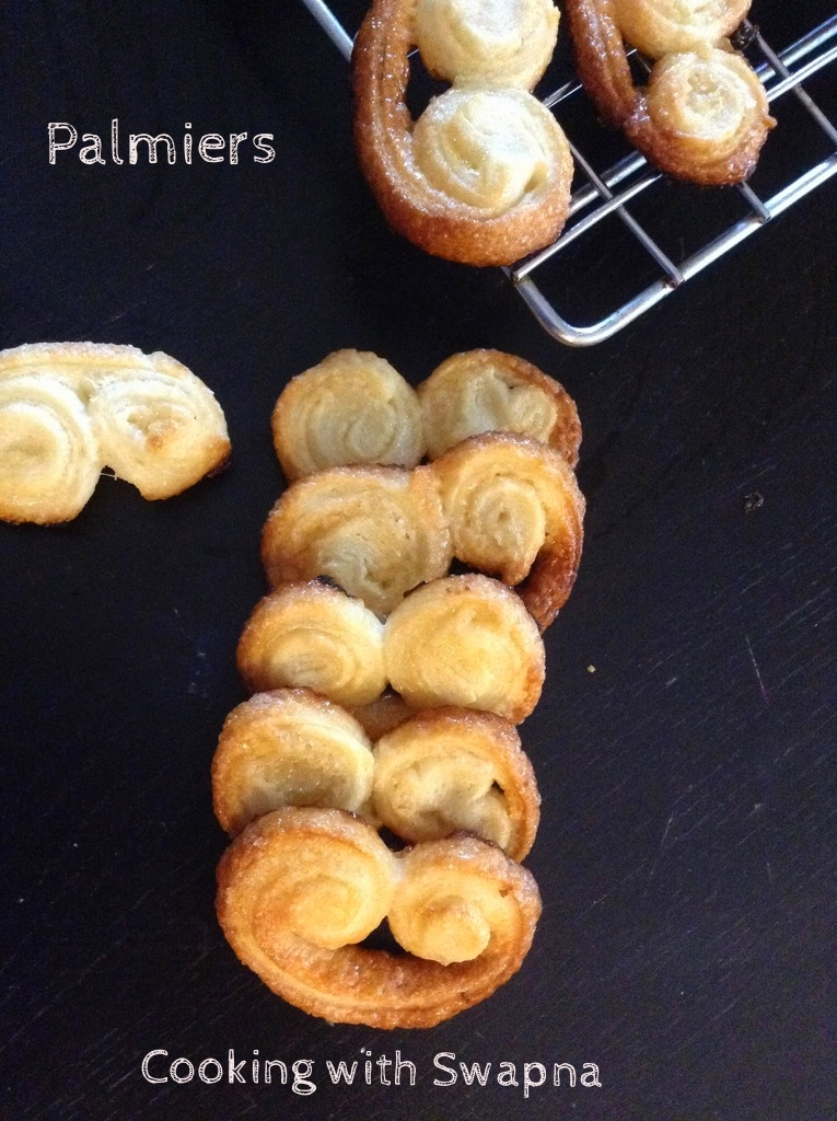 Cooking With Swapna: Palmiers | Elephant Ear Cookies | Little heart ...