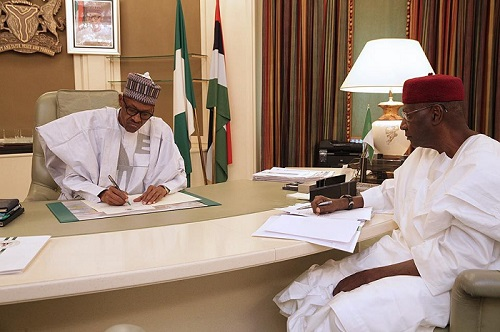 BREAKING: President Buhari Resumes Duties After vacation, Looking Very Healthy ... See Photos
