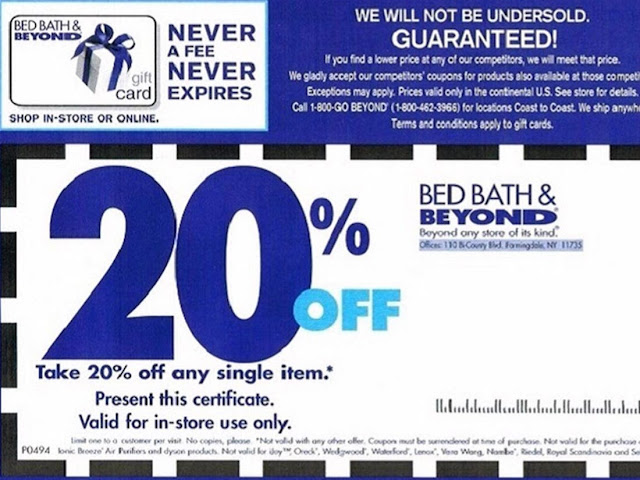 Bed Bath and Beyond Printable Coupons In Store September 2020