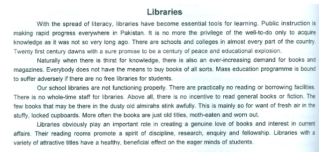 10th class essay on libraries