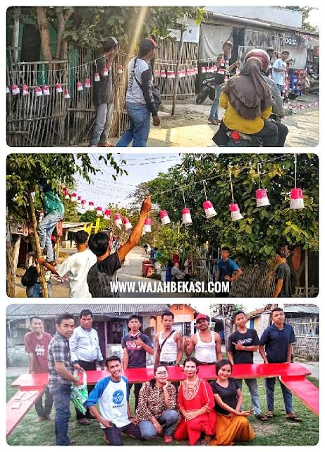 Sambut HUT RI, Pemuda RCA Hias Lingkungan di Cabang Ampat Huripjaya
