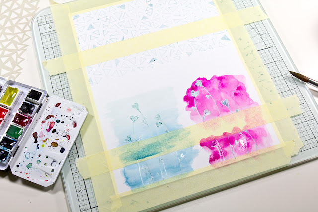 Watercolor Cardmaking Technique