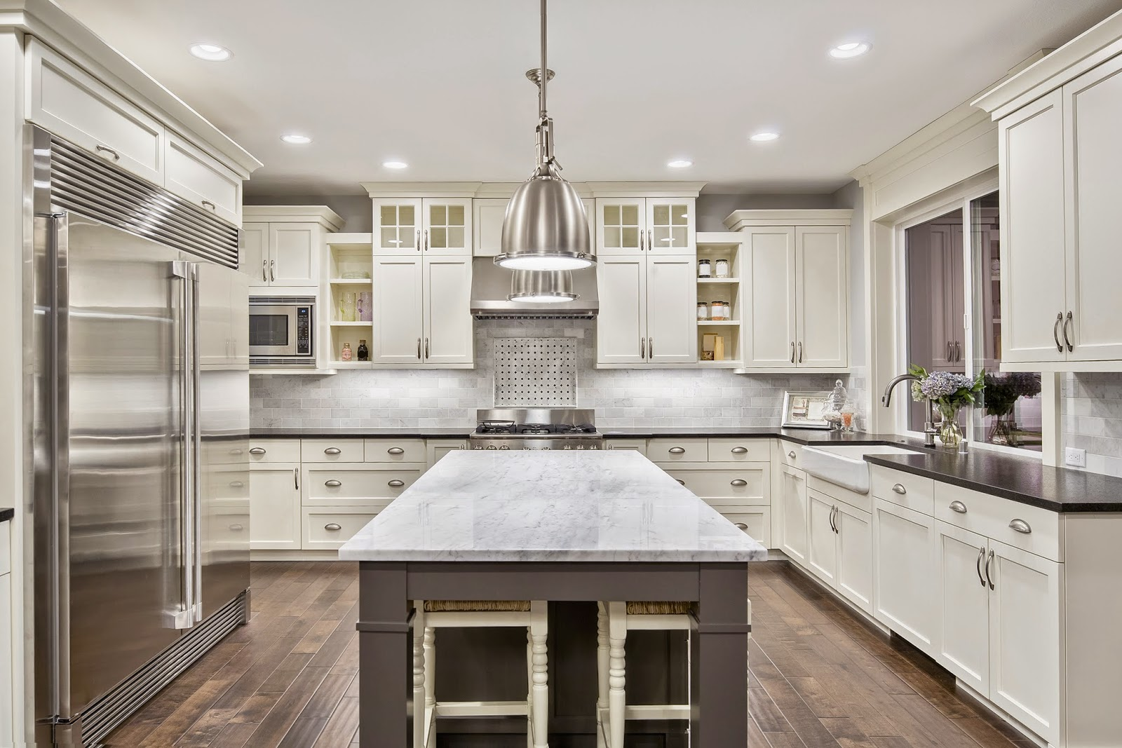 Image result for how to make a small kitchen look big