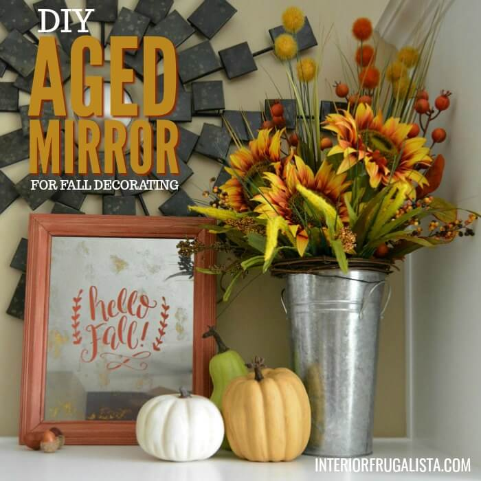 Picture Frame Glass Turned Into A Fall Aged Mirror