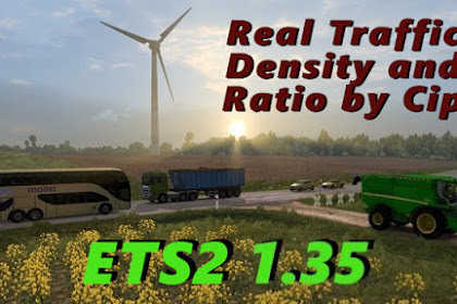 Real Traffic Density and Ratio ETS2 1.35.e
