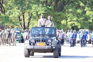 Gelar Pasukan Operasi Ketupat 2021, Kapolres AKBP Kadarislam Jadi Komandan Upacara