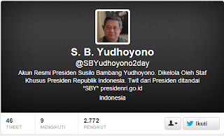 Inilah Akun-Akun Twitter Presiden SBY yang Palsu