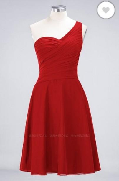 Short One-shoulder Bridesmaid Dress– Price: US$ 89.00