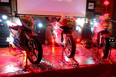 Kendaran yang digunakan Honda ART Pontianak berlaga di lapangan balap