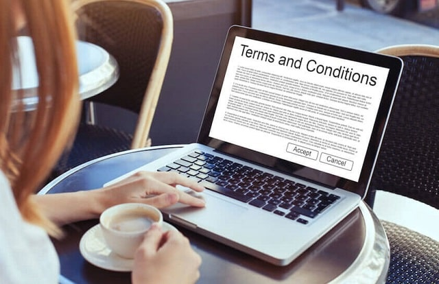 how to read terms and conditions page gambling site fine print online casino website