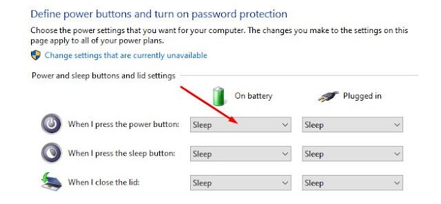 Cara Menonaktifkan Tombol Power Komputer di Windows 10