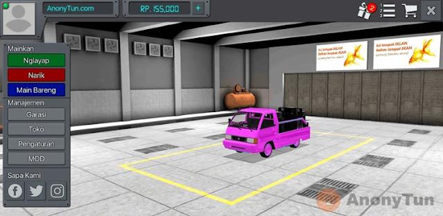 MOD BUSSID Mobil Bak Pink