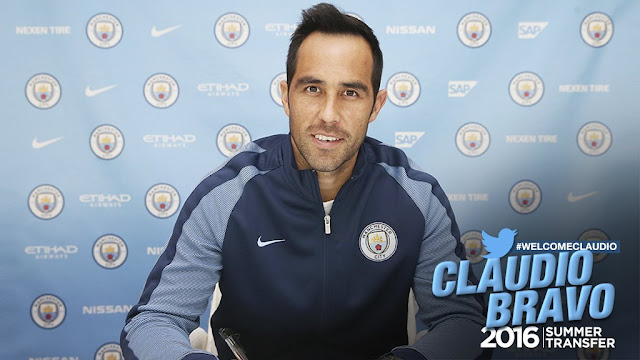 OFICIAL: Bravo é o novo reforço do Manchester City.