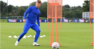 Chelsea New signing Timo Werner trains with the team for the first time