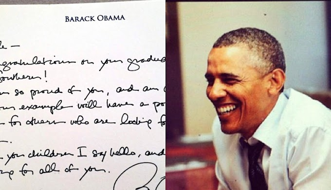 Obama sends letter to prisoner he freed, who made the dean's list: 'I am so proud of you'