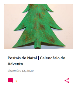 postal em forma de Árvore de Natal