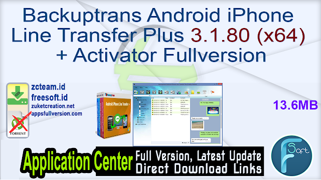 Backuptrans Android iPhone Line Transfer Plus 3.1.80 (x64) + Activator Fullversion