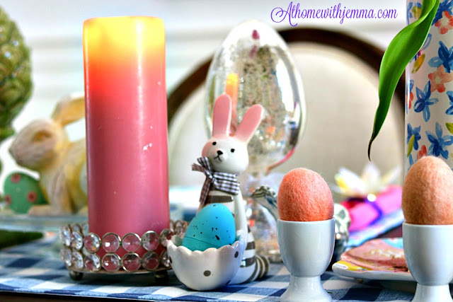 Easter, Holiday, Decorating, Decor, crystal, rabbit, athomewithjemma.com