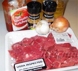 томатная паста- 2 ст. л; - соль - 0,5 ч. л.; - специи и черный молотый перец - по желанию;