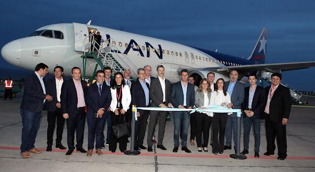 LATAM Airlines inauguró su nueva ruta San Juan – Santiago de Chile