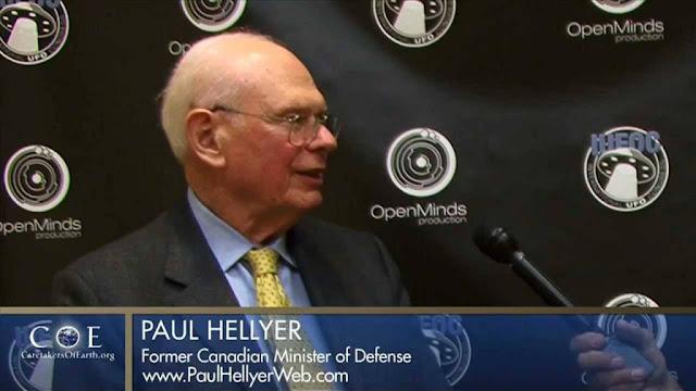 Paul Hellyer, ex Ministro de Canadá, denunció la presencia extraterrestre en nuestro planeta, y la cooperación que existe entre el Gobierno de EE.UU. y los alienígenas.