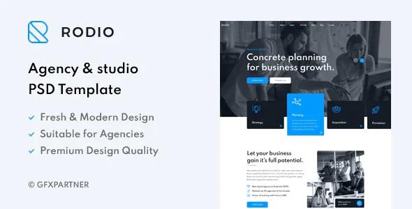 Best Agency & Studio PSD Template