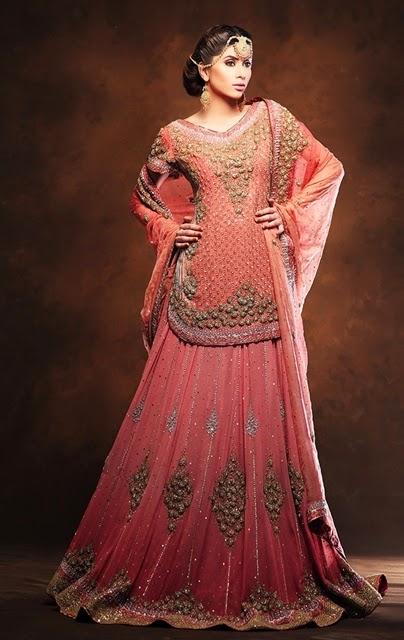 Tilla work new bridal dresses in pakistan baraat walima sharara