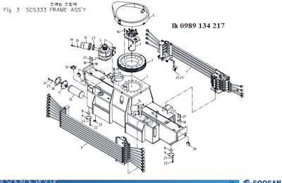 Khung, cổ góp, quay toa của cẩu Soosan 3 tấn SCS323-SCS314-SCS324-SCS333-SCS334-SCS335