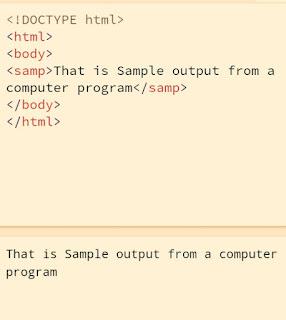 Html <samp> tag