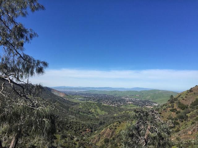 Mt. Diablo Falls Trail Loop viewpoint