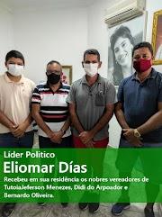 O Maior líder Politico dessa região norte do Maranhão, Eliomar Dias, recebeu em sua residência os nobres vereadores de Tutoia, Jeferson Menezes, Didi do Arpoador e Bernardo Oliveira.