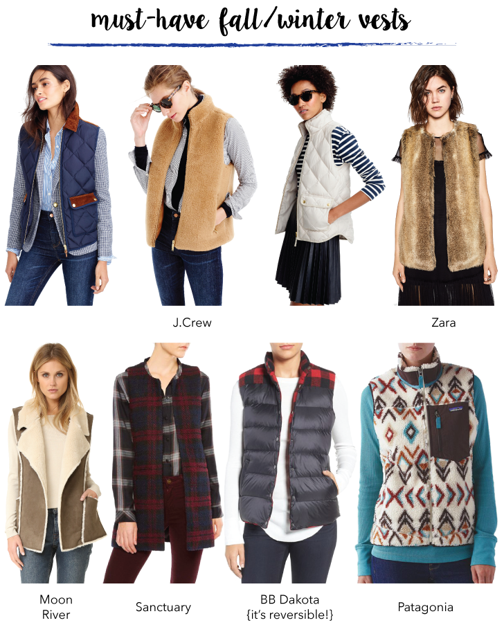 Must-Have Fall and Winter Vests // A Style Caddy
