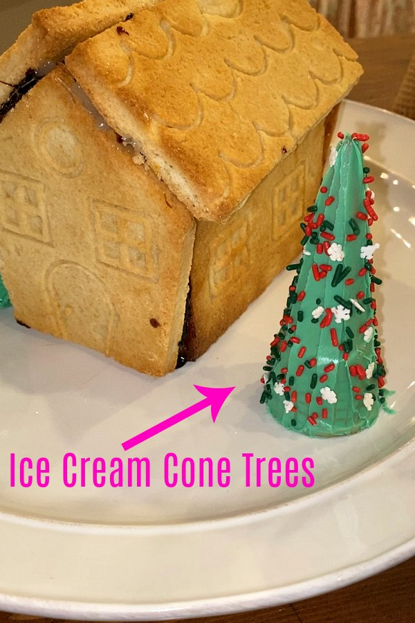 Frosted Ice Cream Cone Trees