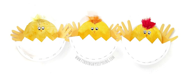 paper plate chicks for Easter