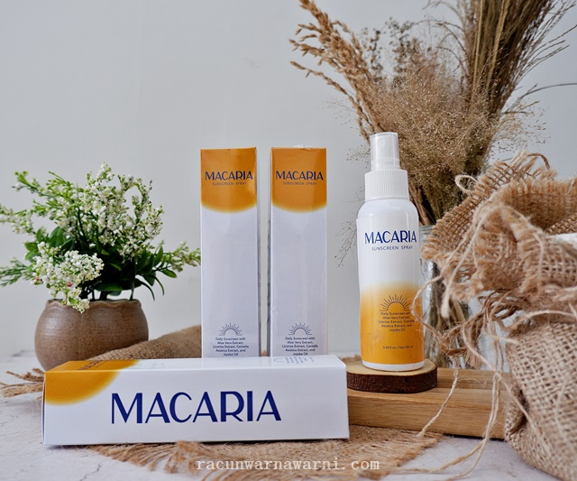 Giveaway Macaria Sunscreen Spray