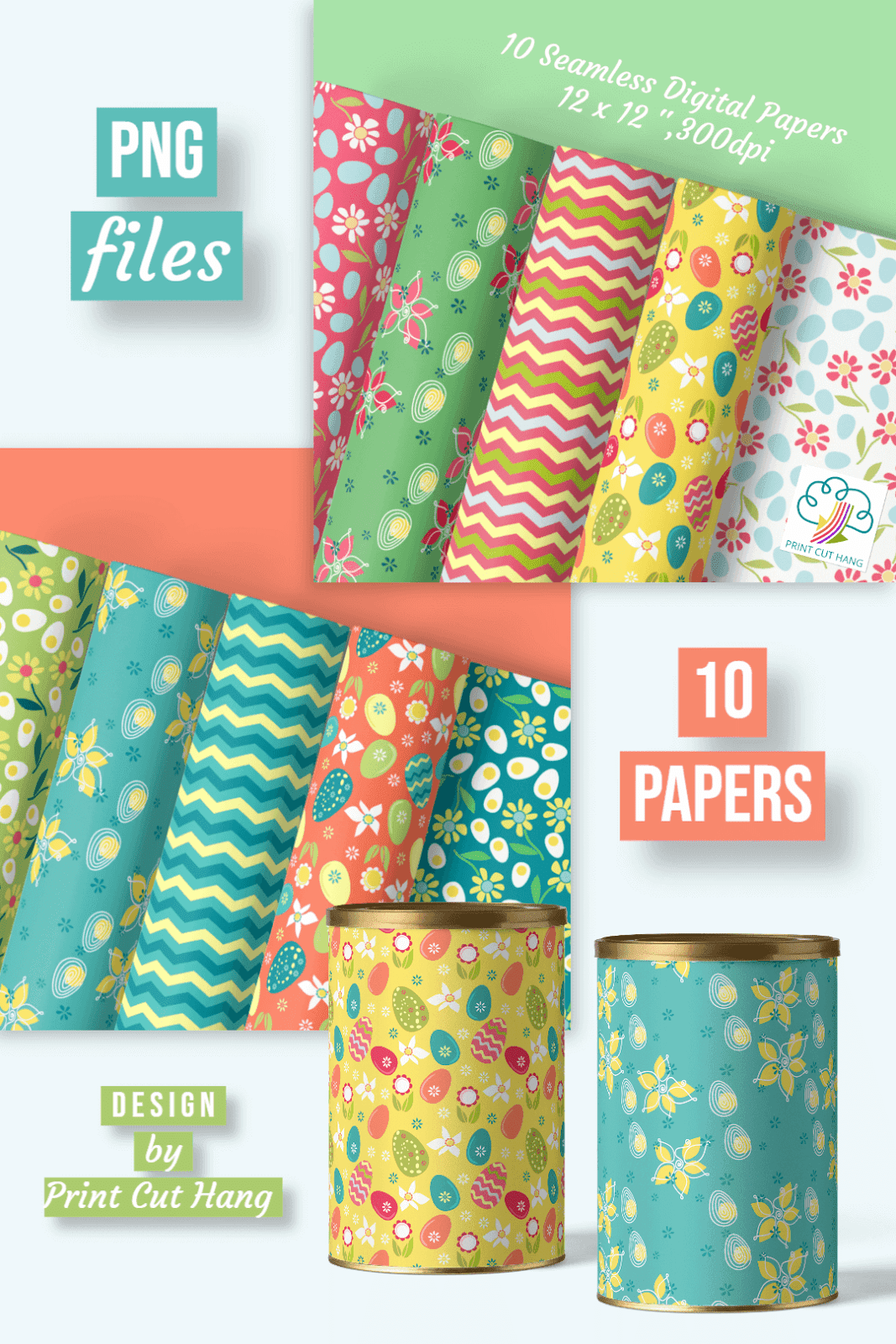 SET OF 10 EASTER PAPERS
