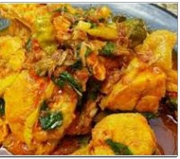 Masak ayam woku khas Manado