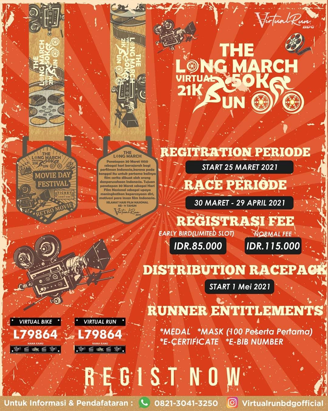 The Long March - Virtual Run & Ride • 2021