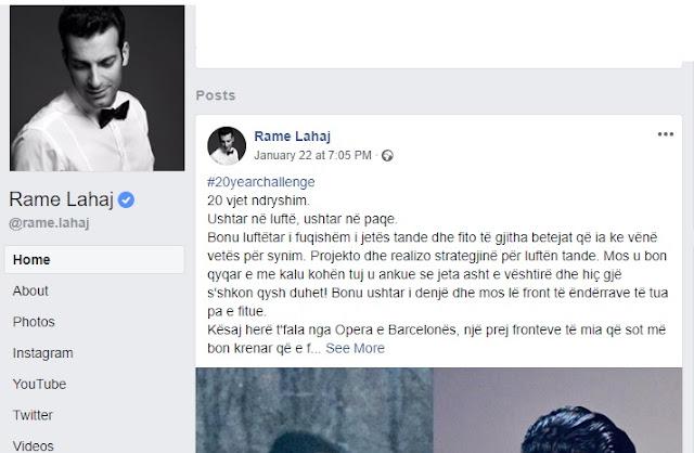 Albanian tenor Rame Lahaj was part of the Kosovo Liberation Army