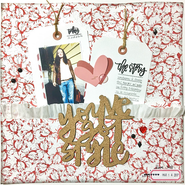 You've Got Style Scrapbook Layout by Angela Tombari for The Robin's Nest DT