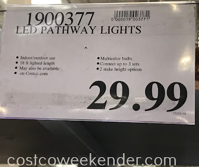 Deal for LED Pathway Lights at Costco