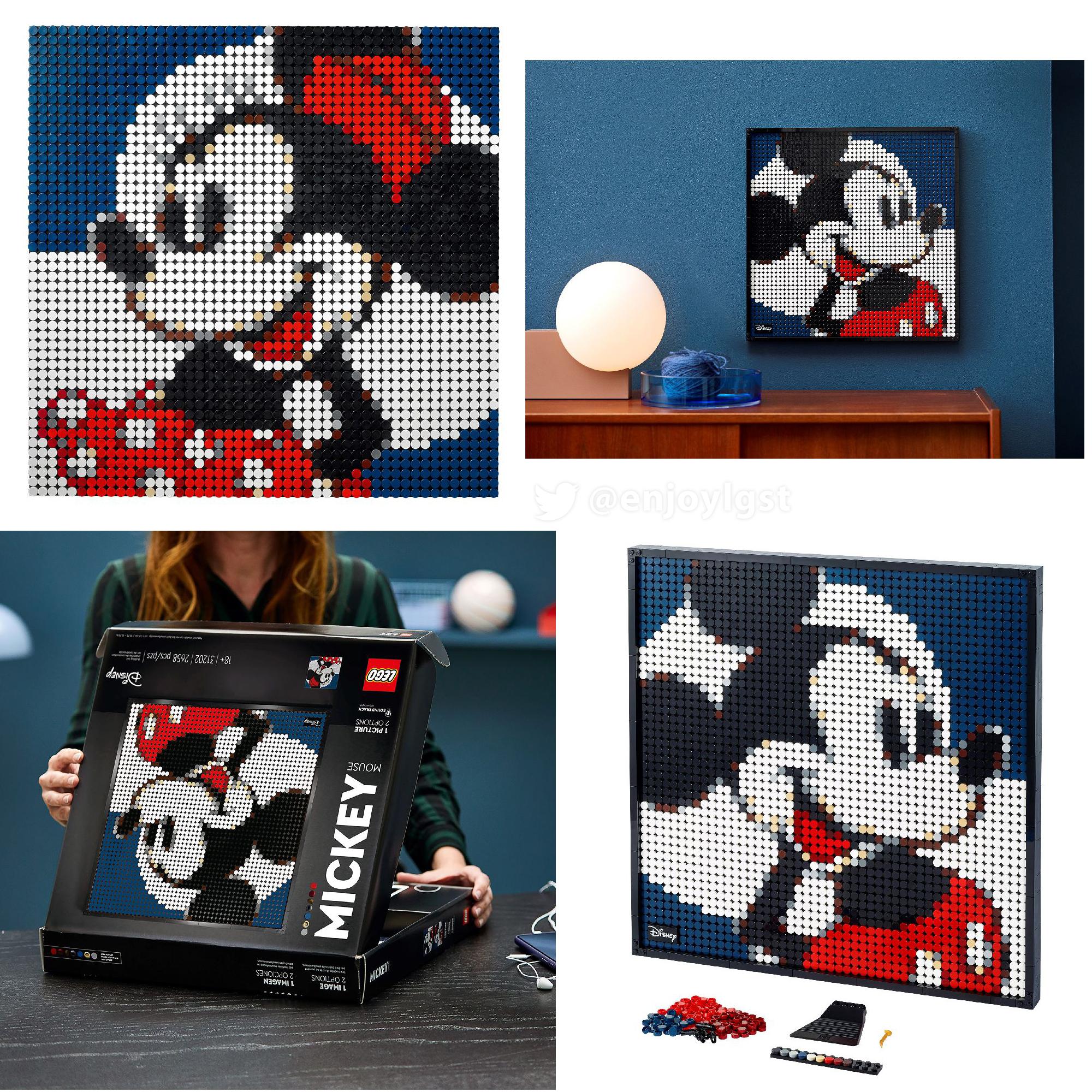 ミッキーとハリポタの2021年レゴ アート新製品情報