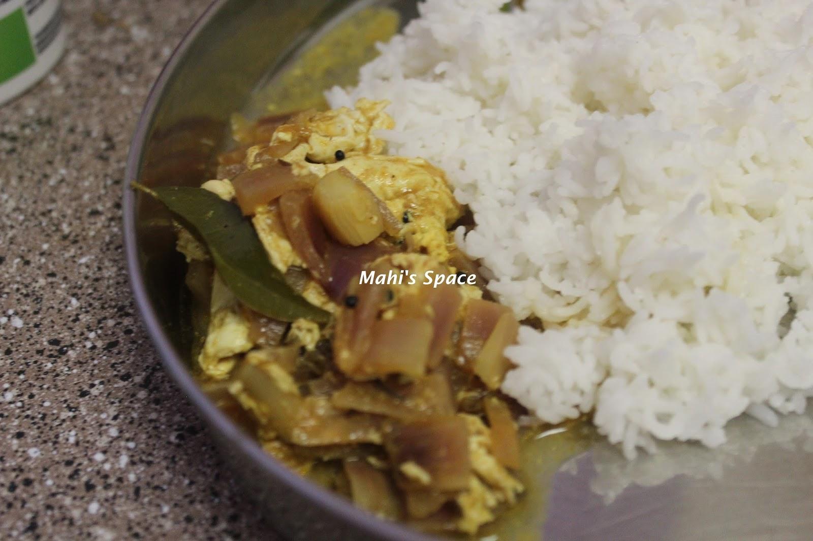 Muttai puli kuzhambu/ Poached egg gravy with tamarind