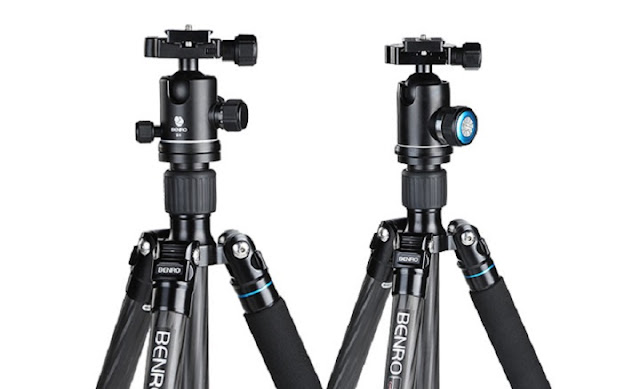 Benro Aerometal Travel Angel II series tripods w/ B2 and V1 ball heads