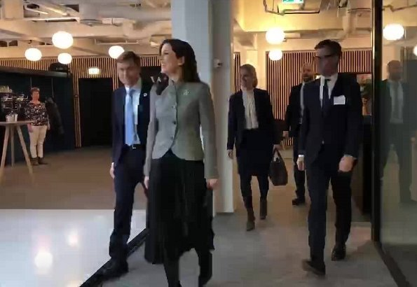 Crown Princess Mary wore Giorgio Armani Asymmetrical Wool Cashmere Jacket