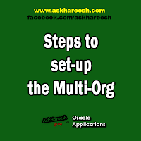 Steps to set-up the Multi-Org, www.askhareesh.com