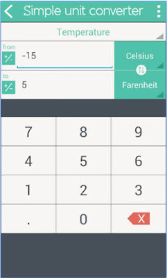 aplikasi kalkulator android gratis terbaik Simple Unit Converter