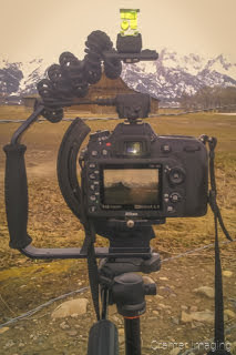 Cramer Imaging's photograph of a camera on a tripod taking a Moulton Barn picture at Grand Teton National Park Wyoming