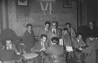 VI Campeonatos Nacionales de Ajedrez de Educación y Descanso disputados en Lérida en 1953