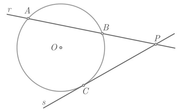 Teorema de Pitágoras baseado na potência de um ponto - Figura 3a